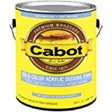 CABOT STAIN 41807 DEEP BASE SOLID COLOR DECKING STAIN WITH SURFACE PROTECTOR SIZE:QUART.