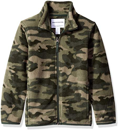 Amazon Essentials Full-Zip Polar fleece-outerwear-jackets, Camo Print, Medium