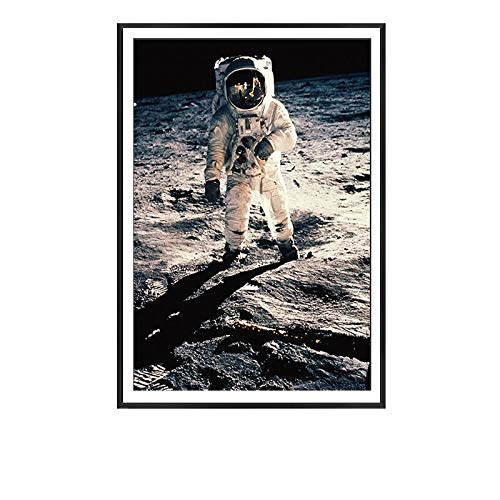 fdgdfgd Nordic Space Earth Astronaut Moon Man Wall Art Canvas Poster Print Painting Wall Map Picture Living Room Decoration