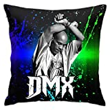 FFGH DMX Black Rapper Earl Simmons Pillowcase Throw Pillow Covers forBedroom Living Room Couch Sofa Car 18inchx18inch