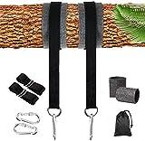 CDblue Swing und Hängematte Hanging Gurt Kit 2000 lbs 5ft mit Sicherer Karabinerhaken und Baumschutz Perfekt für Baumschaukeln und Hängematten