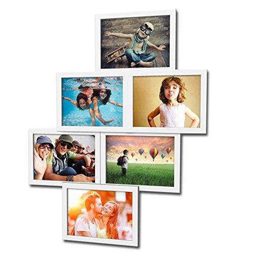 Artepoint Fotogalerie für 6 Fotos 13x18 cm - 3D 603 Optik - Bilderrahmen Bildergalerie Fotocollage Rahmenfarbe Weiß