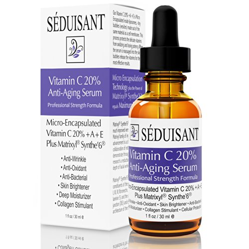 Séduisant Vitamin C 20% Anti Aging Serum with Matrixyl, Synthe Peptides and Micro-Encapsulated Vitamin C,A,E