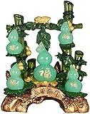 J-Clock Riqueza Símbolo Estatua Lucky Feng Shui Decoración Jade...