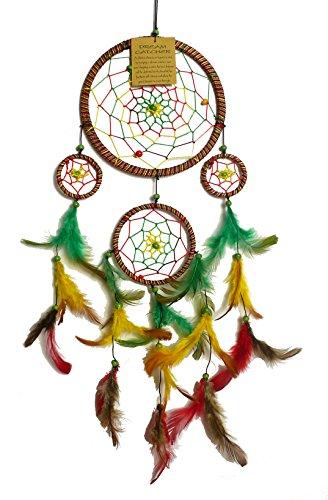 Acchiappa sogni Jamaika, colorato, sonni migliori, diametro dell'anello di 13 cm, lunghezza totale di circa 50 cm