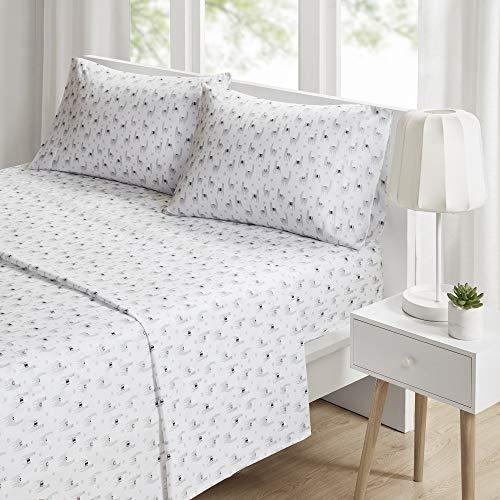 Queen Novelty Printed Sheet Set Gray Llamas
