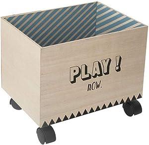 ATMOSPHERA Kiste mit Rollen, Schwarz, 2 Stück