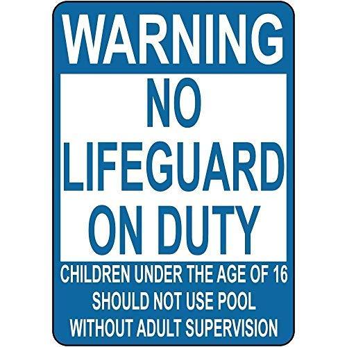 Warnschilder Aufschrift Warning Lifeguard