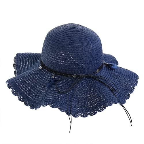 Verano de ala ancha sombrero de sol de las mujeres sombrero de paja gorra al aire libre vacaciones señora playa casual sombrero floral