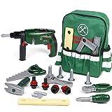 Werkzeugkoffer Kinder Rollenspiel mit 22 Stück Werkzeugen und Rucksack Tool Spielzeug Geschenke für Jungen Mädchen ab 3 4 5 Jahre