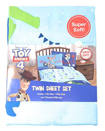Jay Franco Toy Story 4 Twin Sheet Set Bedding - 3 Pieces - 100% Polyester