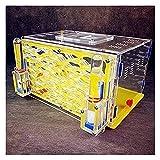 ZHIYAN Formica Laboratorio Habitat Gabbia per Insetti Formicaia Fattoria Castello Giocattolo Scientifico Educativo per Bambini Adulti Facile da Installare (Color : Yellow, Size : 19x12.8x10.5cm)