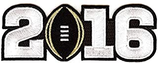 Emblem Source The 2016 College Football Playoff National Championship Game Jersey Patch, Black