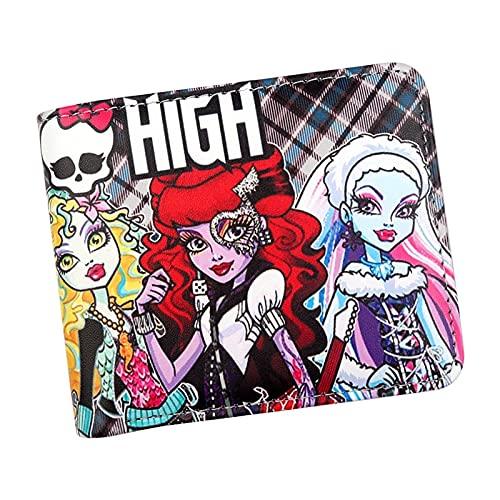 Cartera Monedero De Muñeca De Moda Monster High Teen Girls con Bolsillo para Monedas