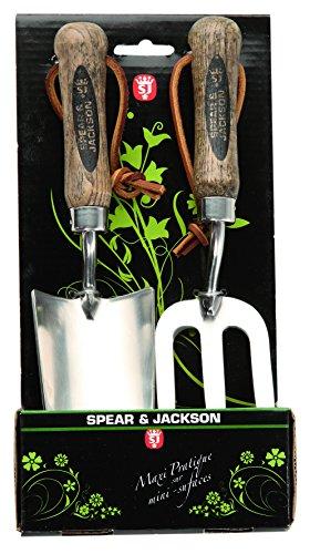 Spear & Jackson 50604 Set de 2 mini outils à fleurs inox