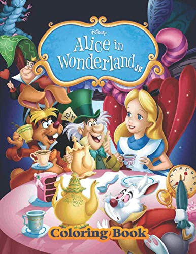Alice In Wonderland Coloring Book: Great Gifts For Kids Who Love Alice In Wonderland. A Lot Of Incredible Illustrations Of Alice In Wonderland For Kids To Relax And Relieve Stress