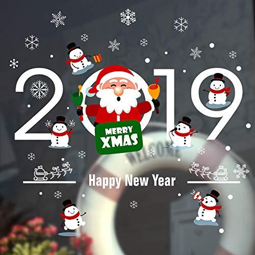 VHVCX Vinilos Decorativos De Navidad Fijadas A Las Puertas De Vidrio En Las Decoraciones De Año Rejas De Las Ventanas Vinilos Decorativos De Árboles De Navidad Etiquetas En Las Ventanas