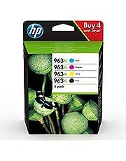 HP 963XL 4 عبوات حبر أصلي أسود / أزرق سماوي / أرجواني / أصفر