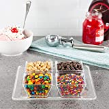 Classic Cuisine 82-KIT1098 Serving Tray with 4 Dishes Holder with Separate Bowls for Nuts, Ice Cream...