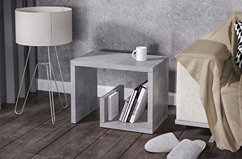 Endo bijzettafel Asso nachtkastje salontafel 60 x 40 cm rek softafel modern Beton-look.
