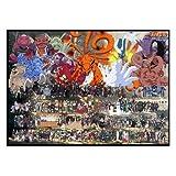 JHGJHK Colección de Personajes de Naruto, Pintura al óleo de Anime, Mural de Dormitorio, Mural de Anime, habitación de Ventilador de Anime, decoración de Dormitorio, Pintura