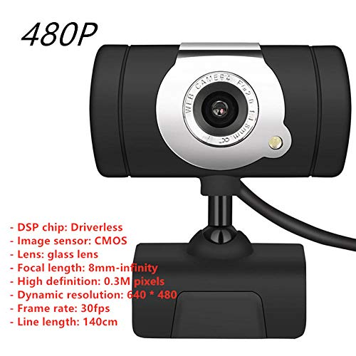 TIGERROSA webcam 1080P HD 5MP Computer Camera USB Web Camera Webcams Ingebouwde Geluidabsorberende Microfoon 1920 * 1080 Dynamische Resolutie-A847 0.3M 640x480P