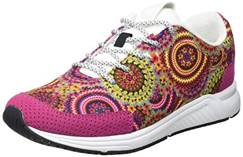 Desigual Shoes_Runner Tapes, Sneakers Mujer, Tutti Fruti, 38 EU