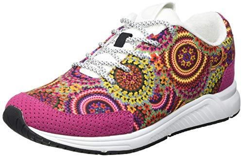 Desigual Damen Shoes_Runner Tapes Sneakers Woman, Tutti Fruti, 40 EU