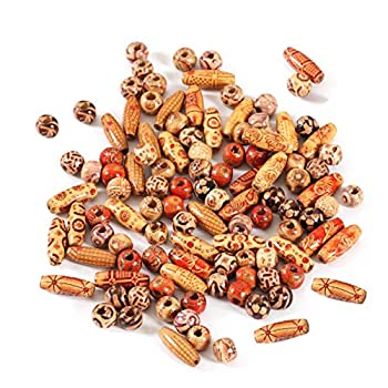 Wholesale 8mm Natural Painted Wood Beads Round Loose Wooden Bead Bulk Lots Ball for Jewelry Making Craft Bracelet Necklace 100pcs
