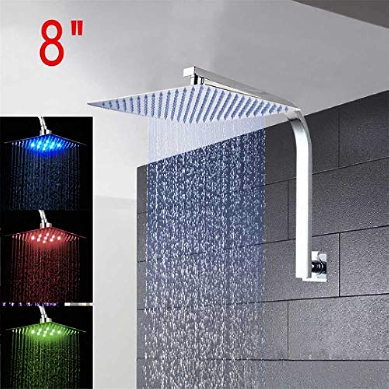 8 12  16 Rainfall Shower Head System Bade- & Duschhahn mit Brausearm & Handbrause Badezimmer-Regenmischer-Duschset 01