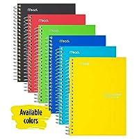 Mead Fie Starパーソナルスパイラルノート、7インチx 4 3/8インチ、100シート、カレッジルール、アソートカラー(MEA45484)。 1 Pack