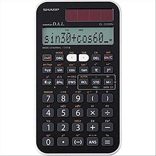 Sharp El 510RNB Calcolatrice Scientifica, Nero