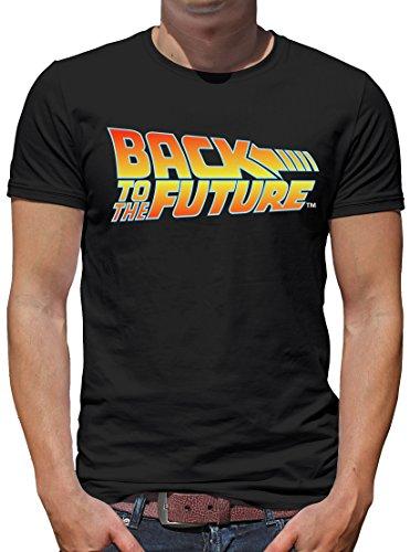 TShirt-People Zurück in die Zukunft Logo T-Shirt Herren M Schwarz