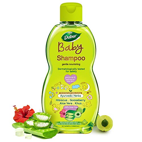 Dabur Baby Shampoo: With No Harmful Chemicals & Tear Free Formula |Contains Aloe Vera & Gooseberry | pH balanced , Hypoallergenic & Dermatologically Tested with No Paraben & Phthalates - 200 ml