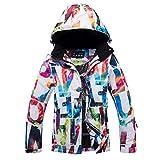 oshidede Queen-Arctic monocarte Femmes Chaud et imperméable épaissie extérieure Combinaison de Ski Costume Double-Ski Veste Coupe-Vent