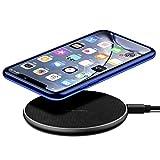 Cargador inalámbrico rápido de 10 W, 7,5 W, cargador de inducción rápida, para teléfonos móviles, compatible con iPhone, Samsung Galaxy AirPods Pro, Huawei Xiaomi universal, color negro