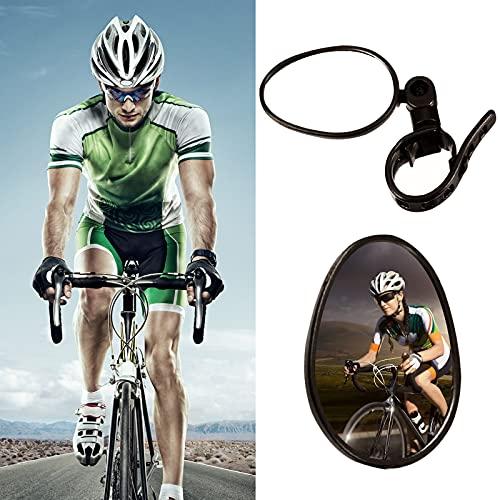 Universal Espejos de Bicicleta, Bicicleta Ciclismo Espejos Retrovisores Manillar Giratorio Ajustable Montado...