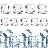 dancepandas Cubito de Hielo 100PCS Falsos Cubitos de Hielo Artificial Ice Cube para Rellenos de florero, Dispersión de Mesa, Evento, Bodas, Accesorios de fotografía, Artesanía - 17mm 20mm