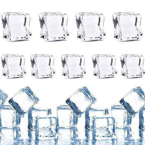dancepandas Cubito de Hielo 100PCS Falsos Cubitos de Hielo Artificial Ice Cube...