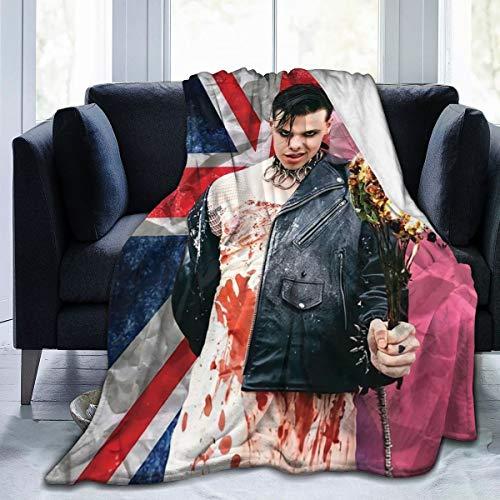 SISHUWUJING YungBlud Decke für Bett, Sofa, Stuhl (127 x 101,6 cm)
