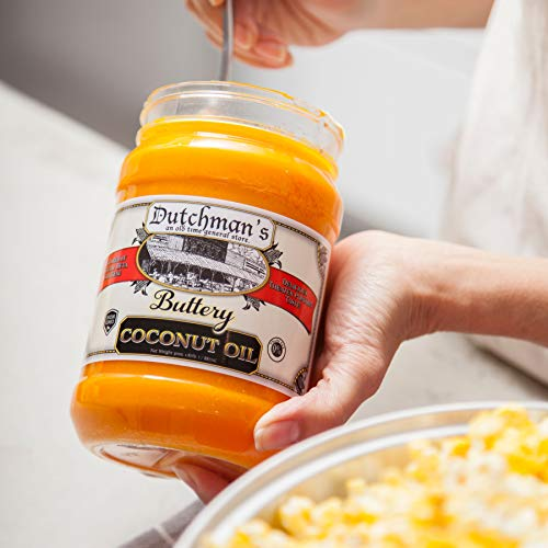 Product Image 7: Dutchman's Popcorn Coconut Oil Butter Flavored Oil, 30oz Jar – Colored with Natural Beta Carotene, Makes Theater Style Popcorn, Top Rated, Vegan, Healthy, Zero Trans Fat