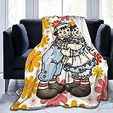 Raggedy Ann and Raggedy Andy - Manta de forro polar para sofá cama, oficina, 101,6 x 127,0 cm, tamaño múltiple para adultos