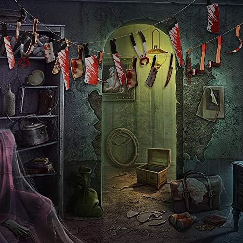 Decorazioni di Halloween,Coltelli Appeso Striscione,34pcs Bloody Armi Puntelli,22pcs Bloody Hands and Feet Hanging Banner Ghirlanda Halloween Zombie Vampiro Partito Decoratioins Forniture (1)