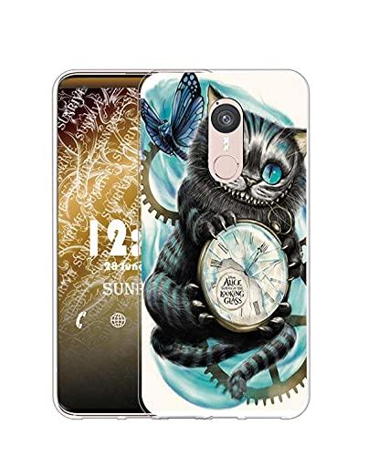 Sunrive Kompatibel mit Doogee F5 Hülle Silikon, Transparent Handyhülle Schutzhülle Etui Hülle (Q Katze 2)+Gratis Universal Eingabestift MEHRWEG
