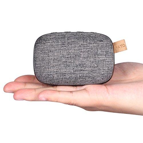 OG-EVKIN Bluetooth-V4.2-Lautsprecher, tragbar, kabellos, 10 m Bluetooth-Reichweite & integriertes Mikrofon, Stoff-Design, Stereo, doppelte Lautsprecher
