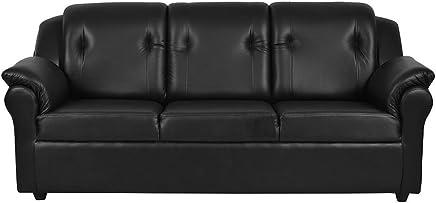 Furny York Three Seater Sofa ( Black)