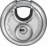 ABUS Diskus® Vorhängeschloss 25/70 mit 360° Rundumschutz - inkl. 5 Schlüssel - mit präzisem Wendeschlüssel-System...