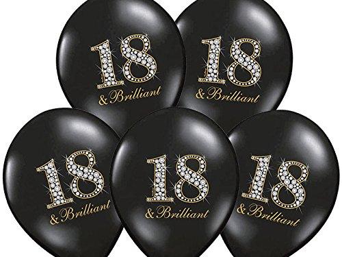 Ballon 50 x 18 ans noir briliant décoration de fête
