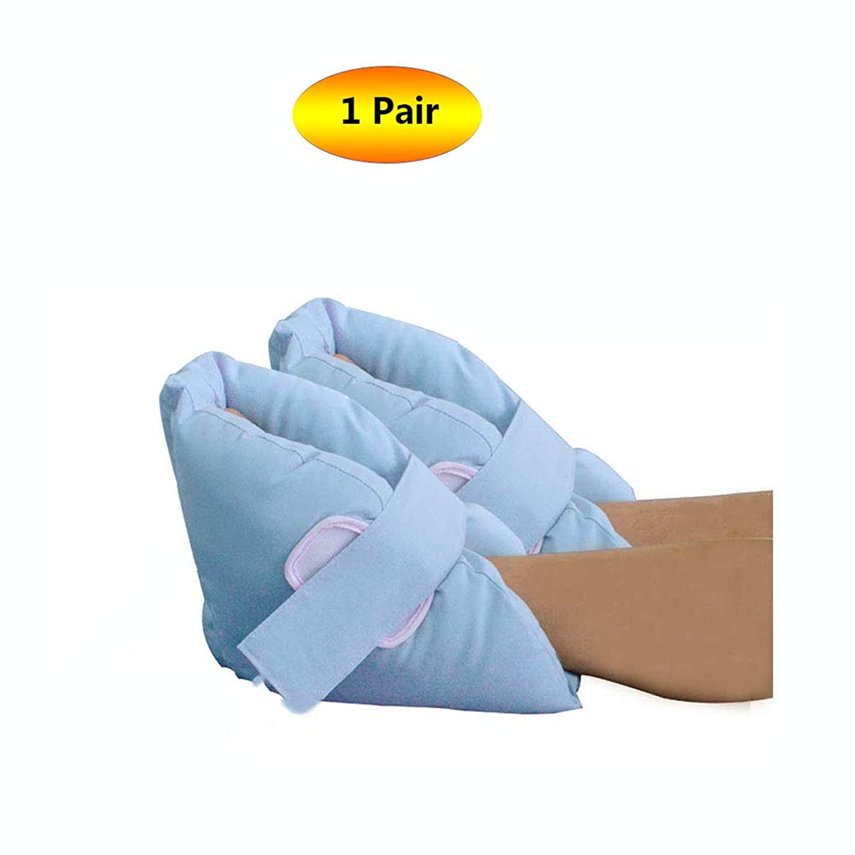 貧しいクロニクル研磨ヒールプロテクター枕ソフト慰め、ヒールフロートヒールプロテクター、高齢者の足補正カバー - ブルー