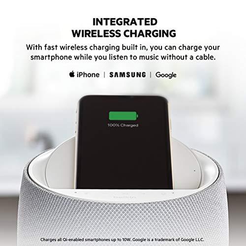 Belkin SoundForm Elite Hi-Fi Smart Speaker + Wireless Charger (Alexa Voice-Controlled Bluetooth Speaker) Sound Technology by Devialet (White)